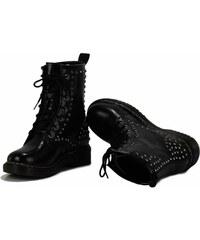LS Fashion Dámské boty ala Martens s cvočky černé Velikost: 36