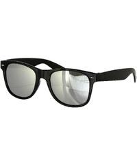 Hoody Brýle Wayfarer zrcadlové - černá/stříbrná