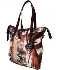 BELLA BELLY Stylová velká kabelka na rameno 404-BB červená