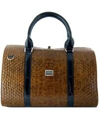 Kufříková kabelka do ruky se zámkem S463 GROSSO
