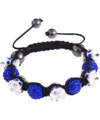 Shamballa náramek LS Fashion LSB0031 modrý