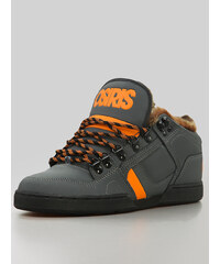Osiris NYC 83 Mid SHR Charcoal Orange Black