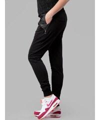 Urban Classics Ladies Side Zip Leather Pocket Sweatpant Black TB801