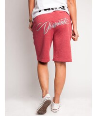 Diamante Chicks Tag Back Classic Shorts Raspberry