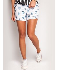 Diamante Chicks Marine Wind Shorts White
