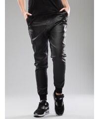 Urban Classics Ladies Deep Crotch Leather Imitation Pants Black TB794