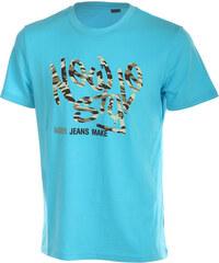 TopMode Moderní pánské tričko s potiskem světle modrá