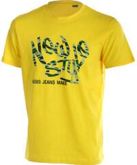 TopMode Moderní pánské tričko s potiskem žlutá
