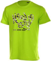 TopMode Moderní pánské tričko s potiskem zelená