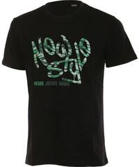 TopMode Moderní pánské tričko s potiskem černá
