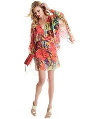 Guess by Marciano Šaty Hot House Hibiscus Kaftan Dress