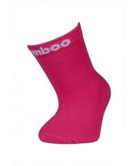 Dětské bambusové ponožky Bobik(tmavě růžová)