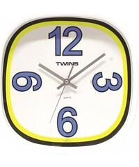 Nástěnné hodiny Twins 10511 blue 30cm