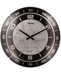 Nástěnné hodiny Twins 7924 silver 35cm