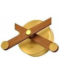 Designové nástěnné hodiny Nomon Sunset Gold ořech 50cm