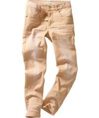 John Baner JEANSWEAR Pantalon Slim Fit avec effets usés, T. 116-170 marron enfant - bonprix