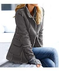 Heine Dámská bunda z umělé kožešiny šedá