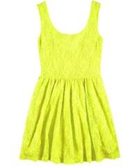 Dívčí krajkové šaty AJC, šaty pro mladé (vel.40 skladem) 40 žlutá Dopravné zdarma!