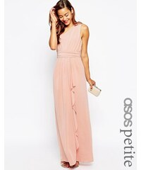 ASOS PETITE - WEDDING - Sexy, verführerisches One-Shoulder-Maxikleid - Orange