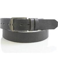 WILD collection Pánsky opasek tmavě šedý kožený - Wild šedá