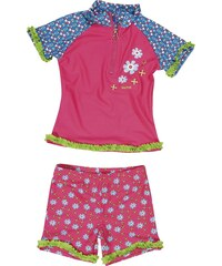 Playshoes Plavky dětské koupací komplet UPF 80+ Květ