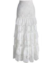 CHICWISH Dámská sukně Maxi Krajka