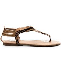 CLOWSE Stylové dámské sandály - zebří - A778BR.ZE / S3-134P