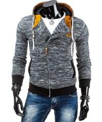 streetIN Pánská mikina s kapucí, kapsami a zipem CRW – tmavě šedá Velikost: S