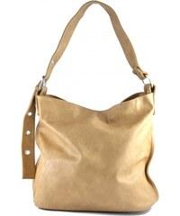 Velká světle hnědá kabelka Iriss / Velké kabelky Marlen 2751