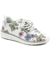 KangaROOS K-Light 8003 bílá dámská obuv s květy