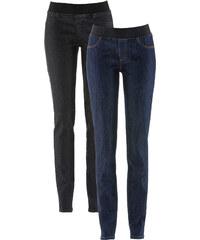 John Baner JEANSWEAR Lot de 2 leggings en jean, T.N. noir femme - bonprix