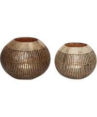Hübsch Svícen Coconut vertical stripes Malý