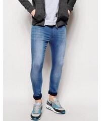 ASOS - Megging-Jeans - Blau