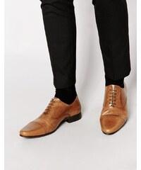 ASOS - Chaussures richelieu en cuir - Fauve