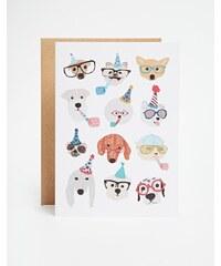 Ohh Deer - Party Dogs - Karte - Mehrfarbig