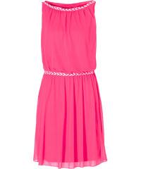 BODYFLIRT Shirtkleid ohne Ärmel in pink (U-Boot-Ausschnitt) von bonprix