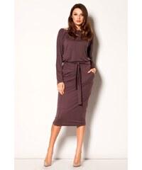 FIGL Dámské šaty M246 brown