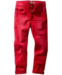John Baner JEANSWEAR Slim Fit kalhoty s obnošenými efekty bonprix