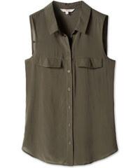 C&A Damen Ärmellose Bluse in khaki von Clockhouse