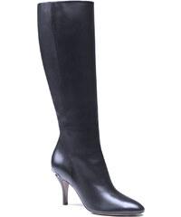 Bottes Gucci femme en cuir noir