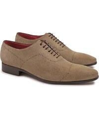 Leonardo Shoes Fait a la main brogues chaussures en cuir suédé fossiles