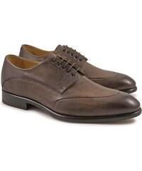 Leonardo Shoes Chaussures richelieus artisanales pour hommes en cuir
