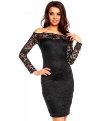 Dámské krajkové šaty Abstract černé - černá