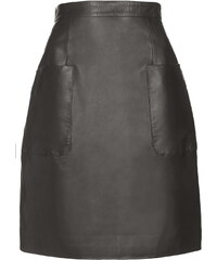 Topshop Angie Black Leather Skirt by Unique