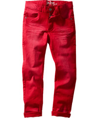 John Baner JEANSWEAR Pantalon Slim Fit avec effets usés, T. 116-170 rouge enfant - bonprix