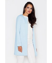 Dámské sako, dlouhé sako FIGL v neoprenovém vzhledu (vel.42/XL skladem) S modrá kouřová