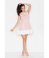 Krásné šaty FIGL z materiálu ve vzhledu neoprenu S rosa