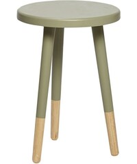 Hübsch Kulatá stolička Jade green/nature