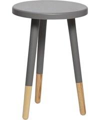 Hübsch Kulatá stolička Grey/nature