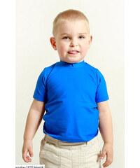 Dětské bambusové tričko krátký rukáv (modrá)